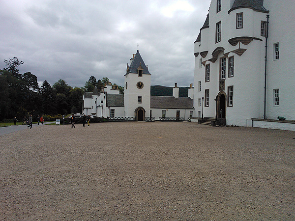At the time of Burns's visit , Blair Castle was the seat of John Murray, 4th Duke of Atholl (1775-1830). Carrying a letter of introduction to the Duke from Hugh Blair, Burns spent Saturday 31st August – 1st September as a guest of the Duke and Duchess (although his fellow traveller William Nicol did not attend).