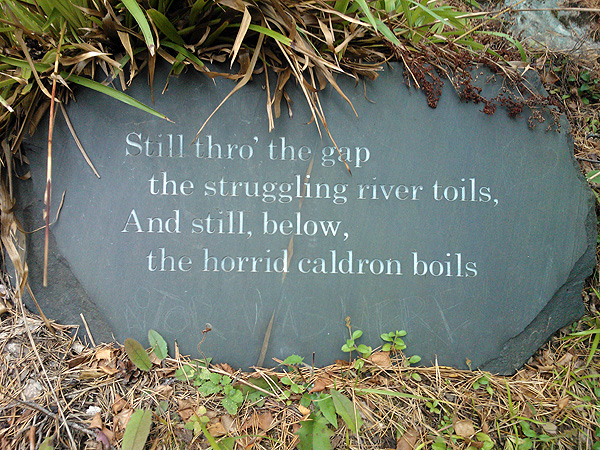 On 5th September, 1787, Burns visited the Fall of Foyers where he composed 'Written with a Pencil, standing by the Fall of Fyers, near Loch Ness'.  Today, the lines from the poem appear on slate signs as you descend from the road to the dramatic waterfall.