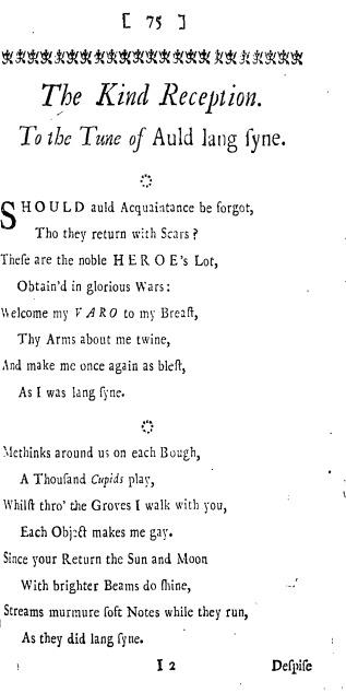 a christmas auld lang syne lyrics english version