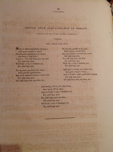 'Auld lang syne' in Thomson's Select Collection of Original Scottish Airs (1799)