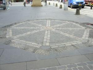 Edinburgh, Royal Mile: James Guthrie's place of execution