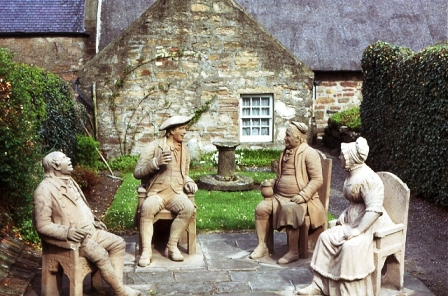 Statues by James Thom at Kirkoswald. © Robert Burns Beyond Text, 2011