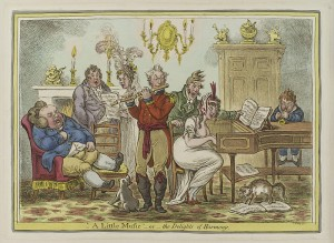 A little music - or - the delights of harmony, James Gillray, 1810