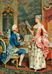 The Singing Lesson by Arturo Ricci, 1847